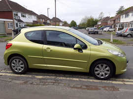 Peugeot 207 S, 2008 (58) Yellow Hatchback, Manual Petrol, 65,449 miles
