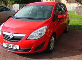 Vauxhall Meriva, 2011 (61) Red MPV, Automatic Diesel, Long MOT