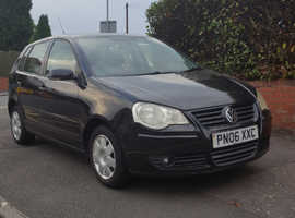 Volkswagen Polo, 2006 (06) Black Hatchback, Manual Petrol, 119,000 miles