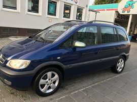 Left hand drive Opel Zafira, 2004 (54) Blue MPV, Manual Diesel, 91,000 miles LHD