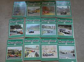 1964 (1) MOTORSPORT MAGAZINES COMPLETE SET JAN - DEC