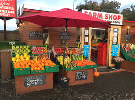 NEW FRESH FRUIT AND VEG FARM SHOP AT WHEATLEYS NURSERY RAYLEIGH SS69ES WHOLESALE AND RETAIL 7 DAYS A WEEK FREE LOCAL DELIVERY XMAS ORDERS NOW BEING TA