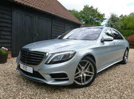 Mercedes S300, 2015 (65) Silver Saloon, Automatic Hybrid, 47,000 miles