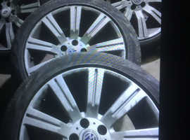 """Alloy wheels and tyres 20"""" vw transporter  T5 landrover"""