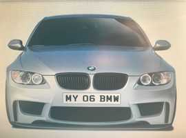 *MY 06 BMW* REGISTRATION NUMBER FOR SALE.