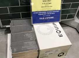 CERAMIC WALL TILES 150x75x 9mm ( KINVER GREY GLOSS) -ALL SAME BATCH & CALIBRE - 3.77 Sqm: 332 Tiles