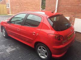 Peugeot 206, 2006 (56) Red Hatchback, Manual Petrol, 35,000 miles