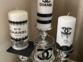 Candles Designer hand decorated
