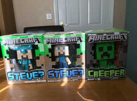 Set of three Minecraft figures