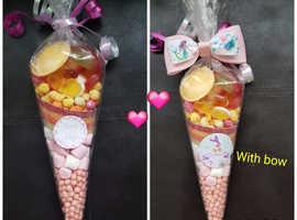 Sweet cones to order, chocolate cones  ,milkshake cones and unicorn milkshake to pre order