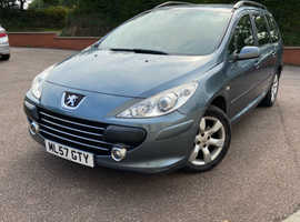 Peugeot 307, 2007 (57) Grey Estate, Manual Petrol, 88000 miles