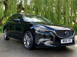 £99deposit&£230pcm Mazda MAZDA 6, 2016 (16) Black Estate, Automatic Diesel, 32,000 miles