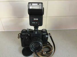 Zenith 35mm Film Camera & Helios Flash