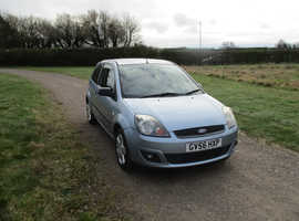 Ford Fiesta, 2006 (56) Blue Hatchback, Manual Petrol, 96,828 miles