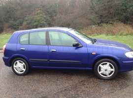 NISSAN ALMERA 2003 LOW MILEAGE 9 MONTHS MOT - EXCEPTIONAL CONDITION A CHEAP CAR THAT DRIVES WELL