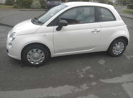 Fiat 500, 2010 (60) White Hatchback, Manual Petrol, 33,216 miles