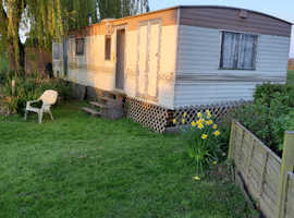 Large solid dry static caravan suitable for storage / outdoor office