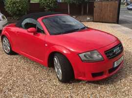 Audi TT, 2005 (05) red convertible, Manual Petrol, 72,000 miles