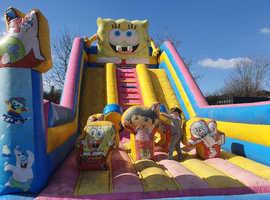 Giant bouncy castle slide