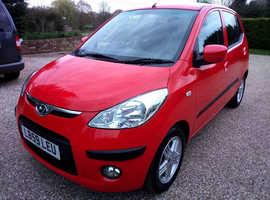 Hyundai i10, 2009 (59) Red Hatchback, Automatic Petrol, 6,640 miles