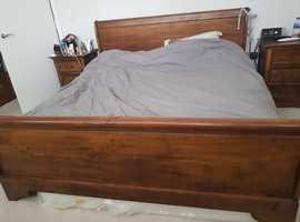 Solid Teak Super King Slay Bed