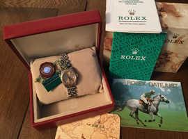 Ladies Rolex Datajust. Champagne dial with Diamonds. Documents.