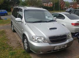 Kia Sedona, 2006 (06) Silver MPV, Manual Diesel, 96,342 miles