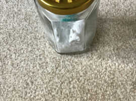 Mini jars with snow and decorations
