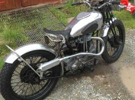 Rare 1936 bsa new blue star motorcycle