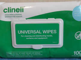 Clinell Universal hand wipes 6pk's X100