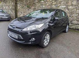 Ford Fiesta, 2011 (60) Black Hatchback, Manual Diesel, 55,000 miles