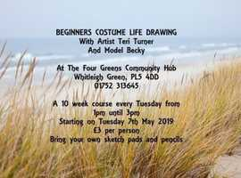 Beginners Costumed Life Drawing