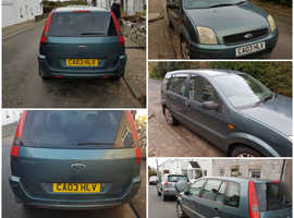 Ford Fusion, 2003 (03) Green Hatchback, Manual Petrol, 82,000 miles