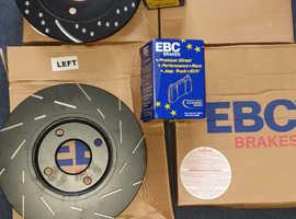 EBC discs and pads