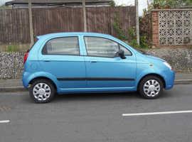 Chevrolet Matiz, 2006 (06) Blue Hatchback, Manual Petrol, 21,000 miles,MOT for a year