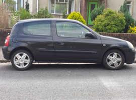 Renault Clio, 2005 (55) Black Hatchback, Manual Petrol, 120,000 miles