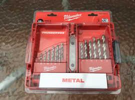 Milwaukee 19x Thunderweb Metal Drill Bit Set (Sealed/Set)