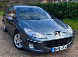 ***Peugeot 407, 2006 (06) Grey Saloon, Manual Diesel, 138,832 miles