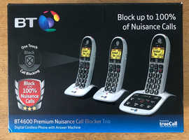 BT4600 premium nuisance call blocker trio
