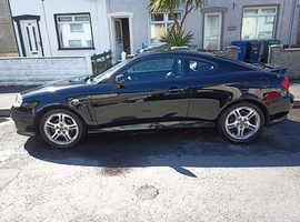 Hyundai Coupe, 2006 (56) Black Coupe, Manual Petrol, 99,600 miles