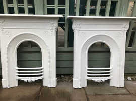 X2 matching cast iron fireplaces