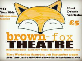 Brown-fox theatre drama workshops for children aged 7-11 in Romford