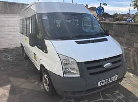 Ford Transit minibus with wheelchair lift