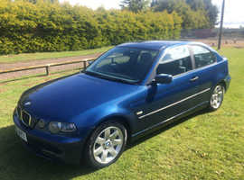 BMW 3 Series, 2003 (03) Blue Hatchback, Manual Diesel, 90,000 miles