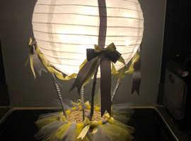 Stunning hot air balloon lampshades