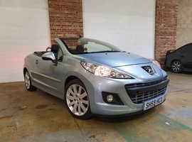 Peugeot 207, 2009 (59) Blue Convertible, Manual Petrol, 63,606 miles