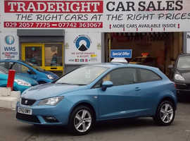 Seat Ibiza, 2014 (63) Blue Hatchback, Manual Petrol, 32,018 miles