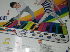 Rainbow Colours Giant 6ft Piano Mat