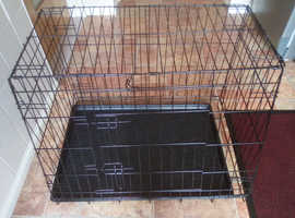 Sloping style dog cage