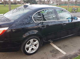 BMW 5 Series, 2008 (08) Black Saloon, Automatic Diesel, 102,000 miles